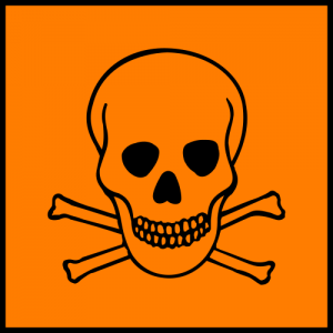 Orange Toxic or Poison Sign (European Chemicals Bureau)