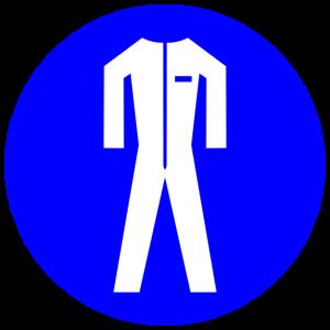 Blue Protective Clothing Sign (Torsten Henning)