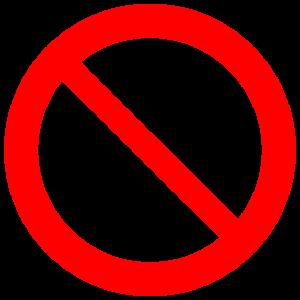 Red Prohibition Symbol (Torsten Henning)