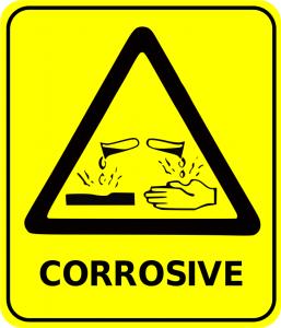 Yellow Corrosive Free Laboratory Safety Sign