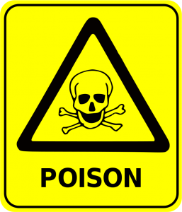 Yellow Poison Warning Sign