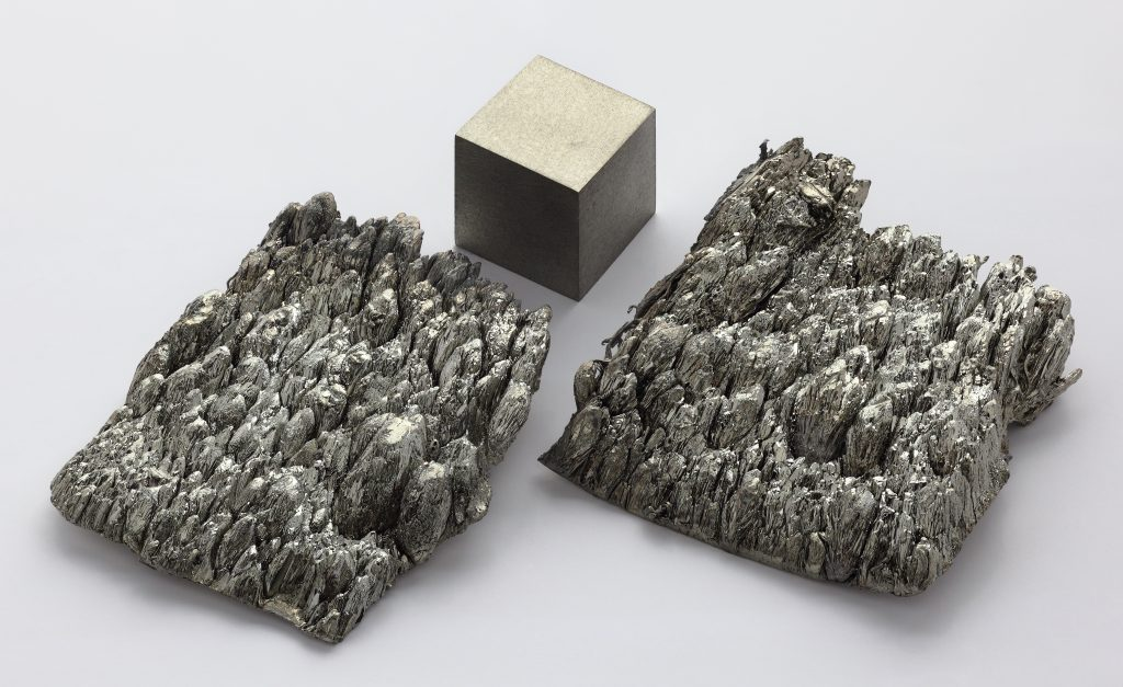 Pure Scandium Cube and Dendrite Crystals (photo credit: Alchemist-hp)