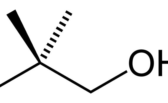 Using wedge and dash notation, solid lines (sticks) represent chemical bonds in the plane of the surface. Black wedges represent chemical bonds coming toward you, while dashed lines are for bonds that extend back behind the surface.