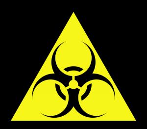 Yellow Biohazard Sign (Bastique)