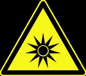 Yellow Optical Radiation Sign (Torsten Henning)
