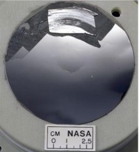 Silicon wafer with a mirror finish. NASA Glenn Research Center (NASA-GRC)