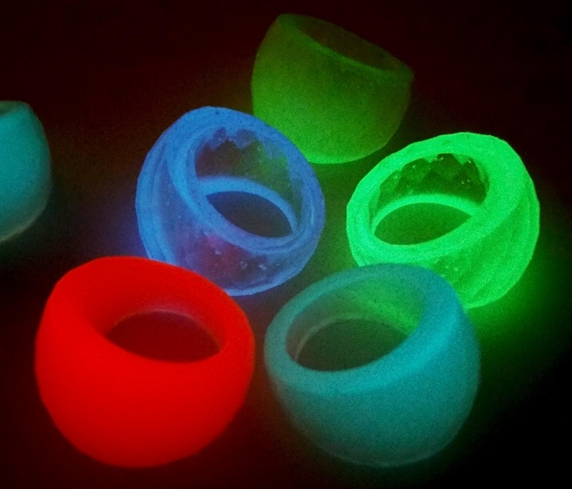 Glow In The Dark Resin Rings