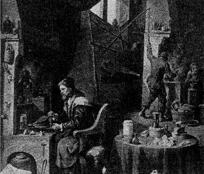 The Boy Chemist Art - The Alchemist by Teniers