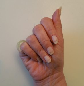 Glow pigment is uncolored, so glow-painted nails look normal to slightly white under ordinary light.