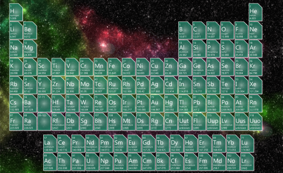 Cosmic Background Periodic Table