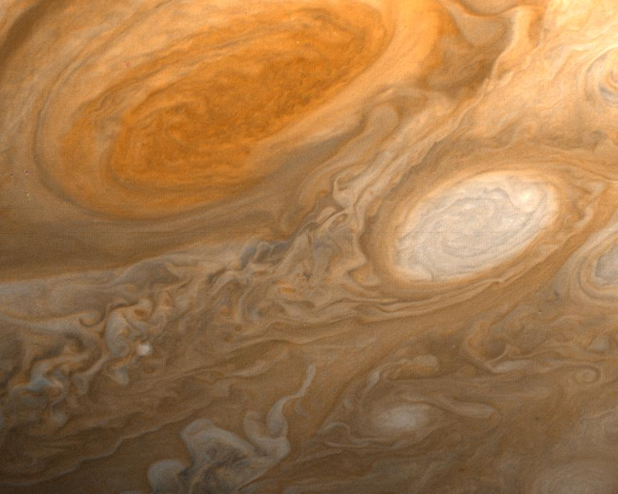 Fun Jupiter fact - If you had been around over 350 years ago, you wouldn't have seen the Red Spot because it didn't exist then. (Voyager 1, NASA/JPL)