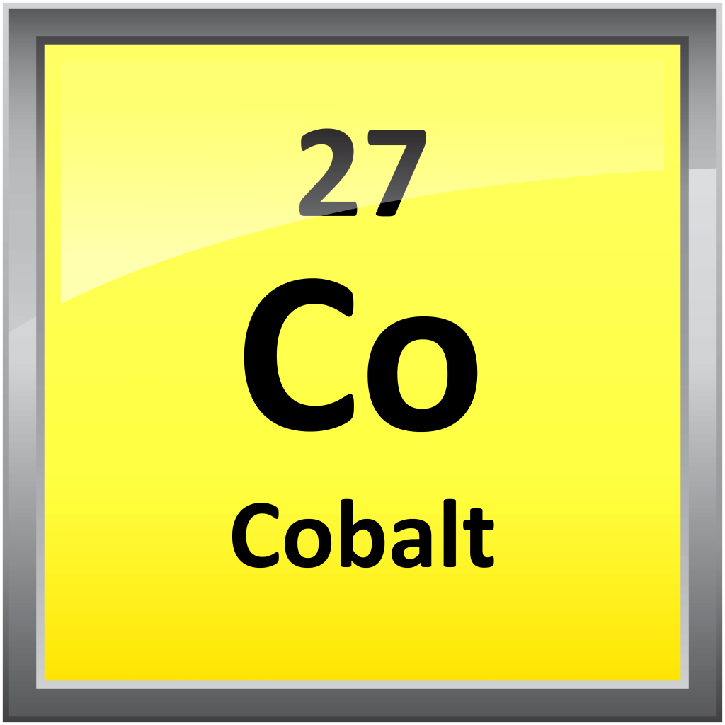 a look at cobalt element number 27 Holonyms (atomic number 27 is a substance of): cobaltite (a rare silvery-white mineral important ore of cobalt) smaltite (a grey mineral consisting of cobalt arsenide and nickel an important source of cobalt and nickel.