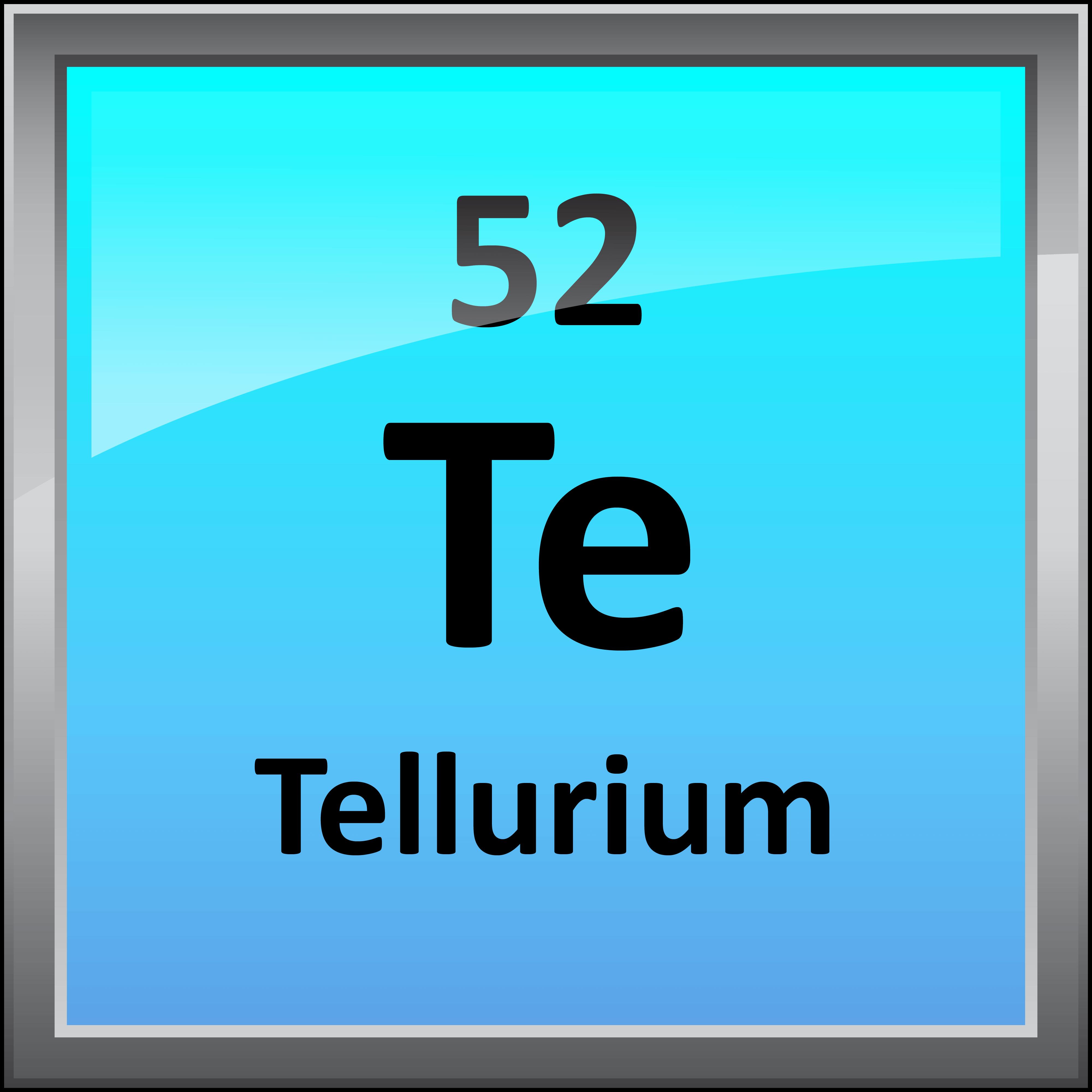 Printable periodic table element symbols 052 tellurium gamestrikefo Gallery