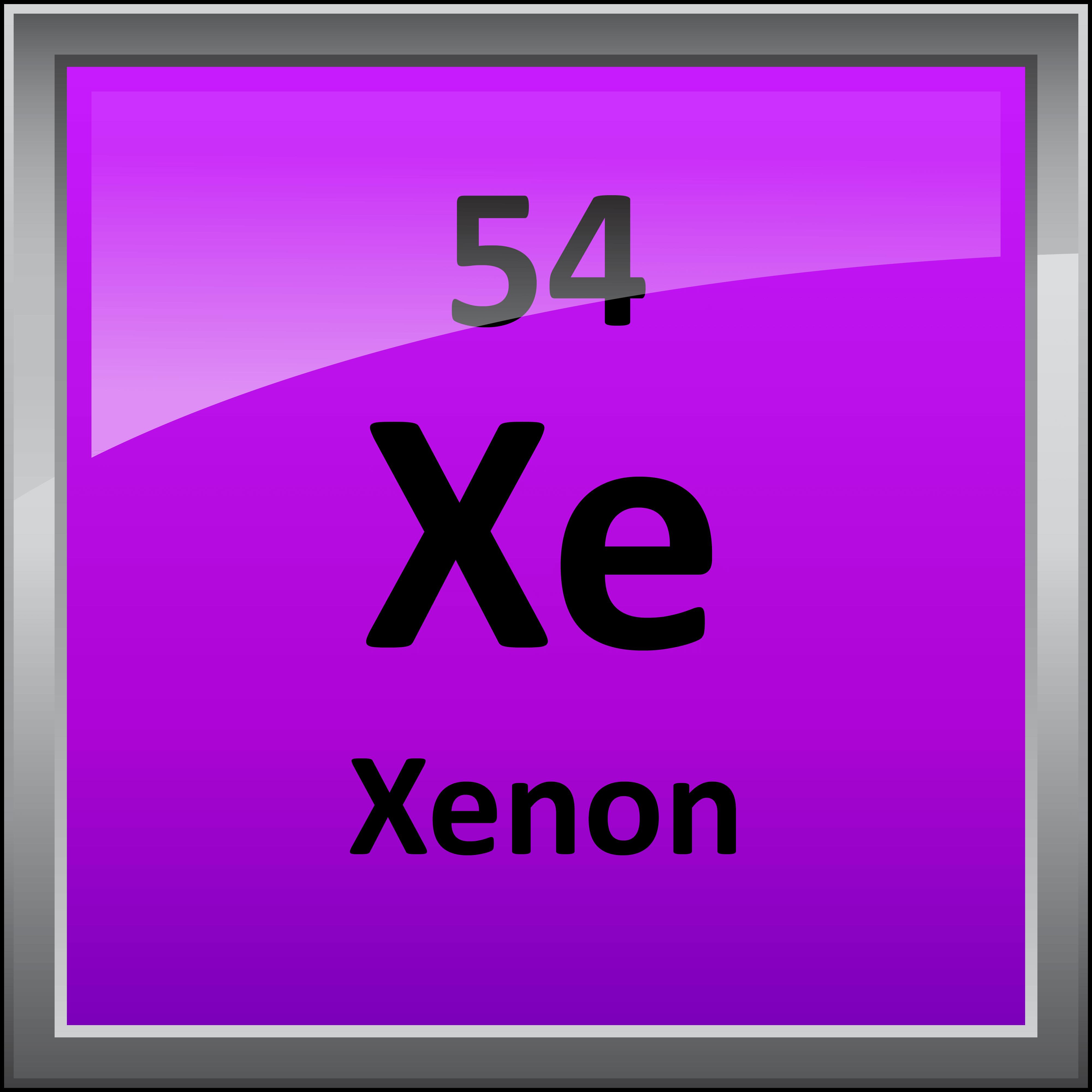 Xenon Periodic Table 054-Xenon - Science No...