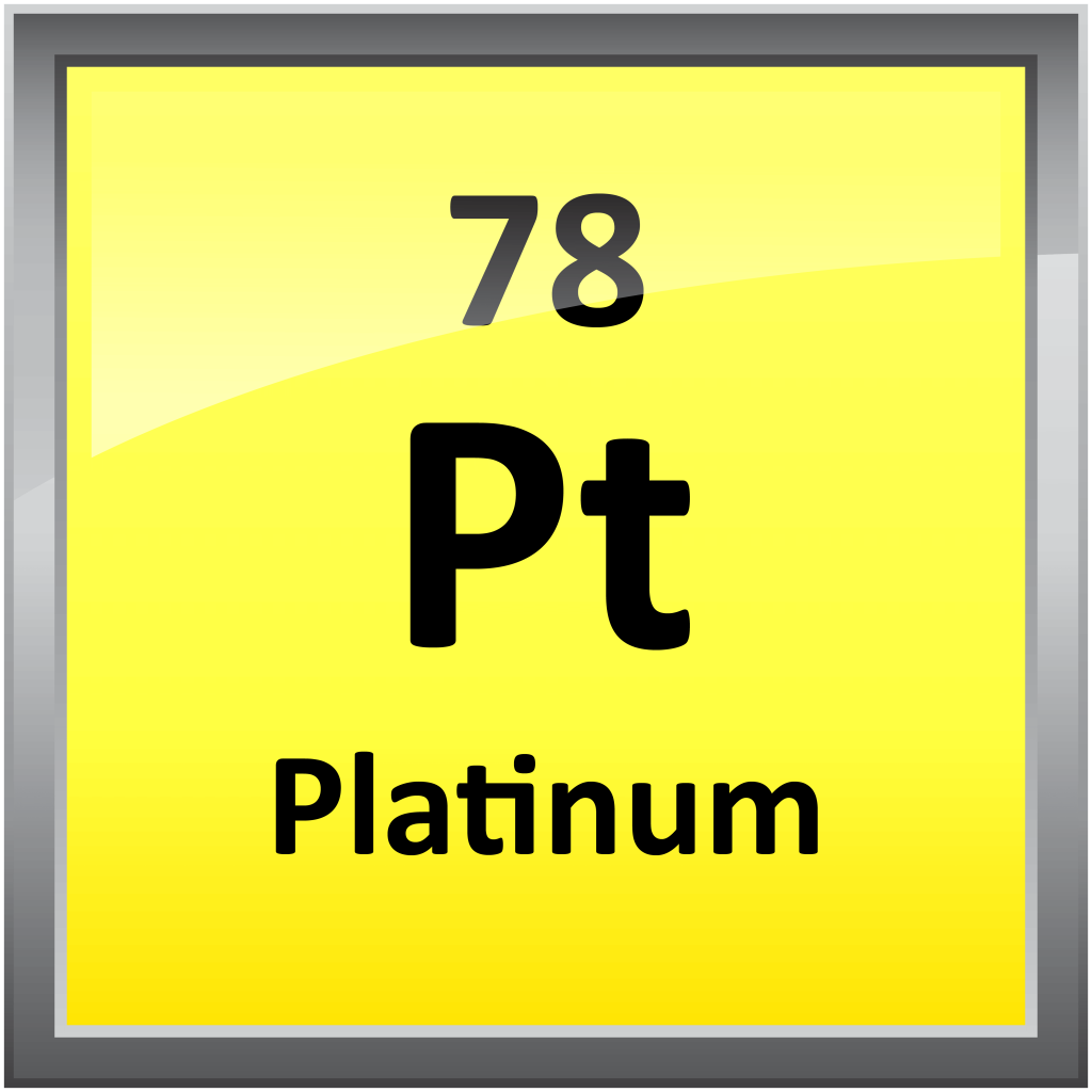 a study of the element platinum Platinum is a chemical element with symbol pt and atomic number 78 it is a dense, malleable, ductile, highly unreactive, precious, silverish-white transition metal its name is derived from the spanish term platina, meaning little silver platinum is a member of the platinum group of elements and group 10 of the periodic.