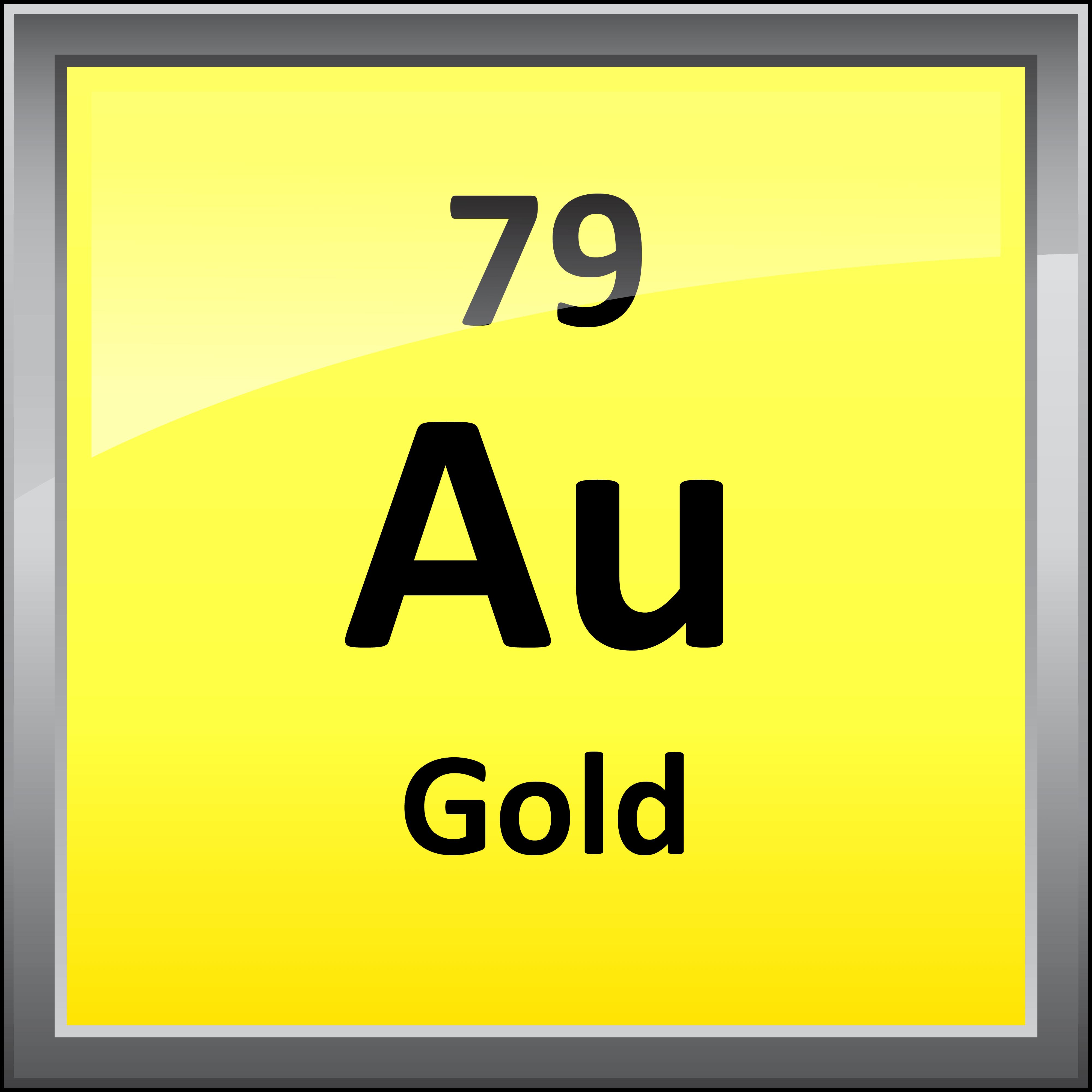 Printable periodic table element symbols 079 gold gamestrikefo Gallery