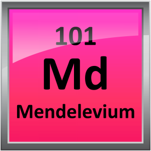Mendelevium is a radioactive metal.