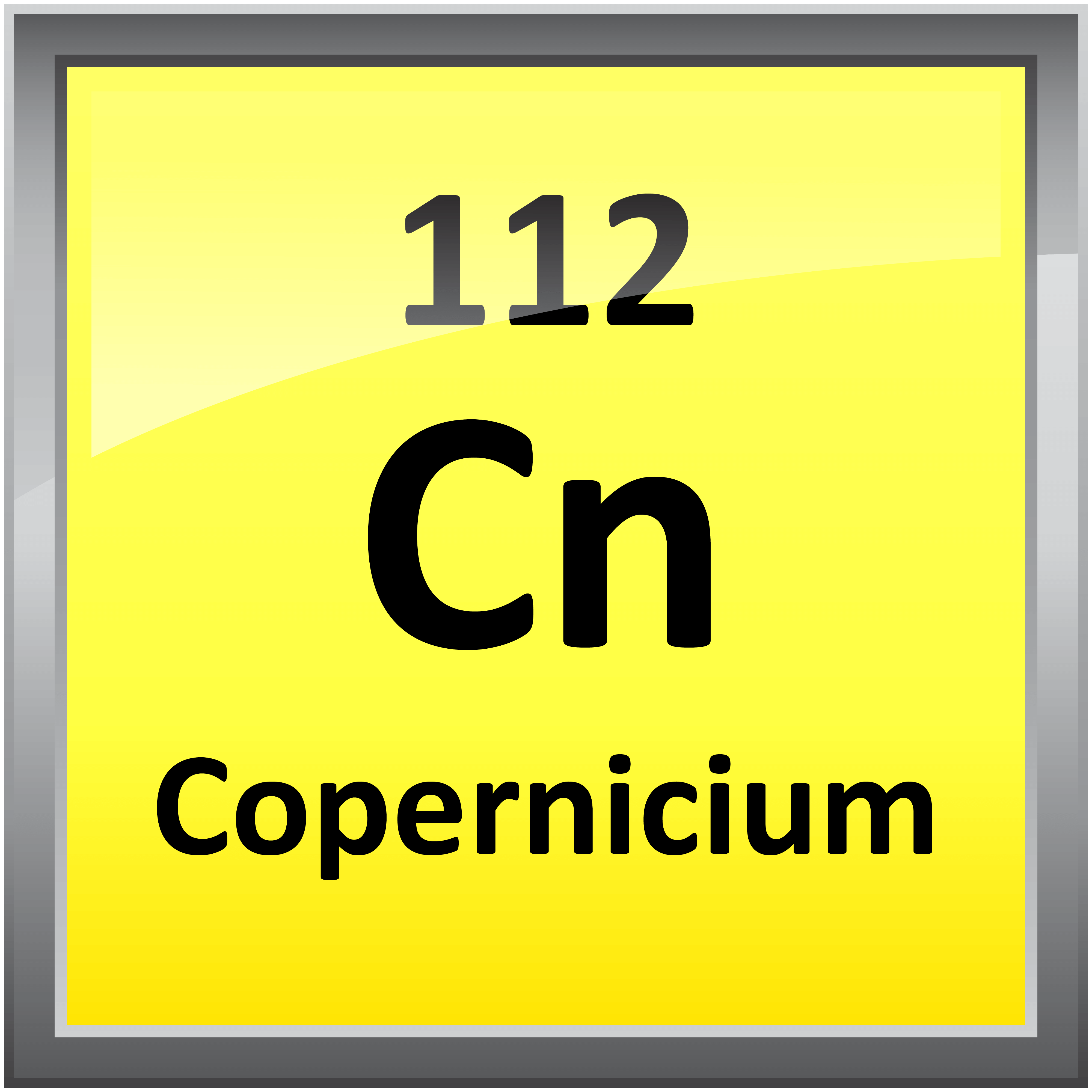 112 copernicium science notes and projects 4000 in printable periodic table element symbols gamestrikefo Images