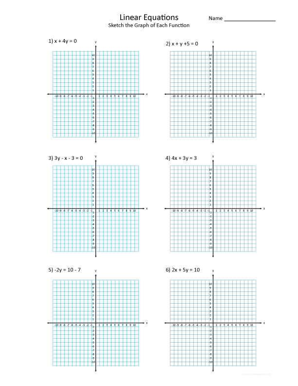 graphing linear functions worksheet - Graphing Linear Functions Worksheet