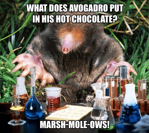 Chemistry Mole and Marshmallows