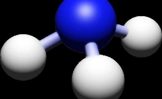 Ammonia Ball and Stick Model