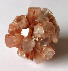 Aragonite Crystal Cluster - Aragonite from Tazouta Mine, Sefrou, Morocco (photo credit: Kevin Walsh)