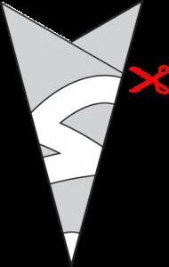 Paper Atom Snowflake Cutout