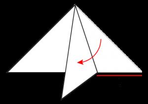 Paper Atom Snowflake Fold 4