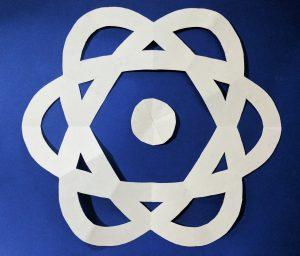 Paper Snowflake Atom