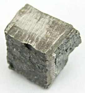 Dysprosium is a silver-colored rare earth element. This is a chunk of purified dysprosium metal. Tomihahndorf