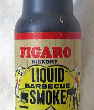 Liquid smoke is a food seasoning that is made by passing smoke through water. Andrew Filer, Creative Commons License