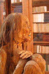 Pre-Columbian Peruvian mummy. (Emmanuelm, Creative Commons)