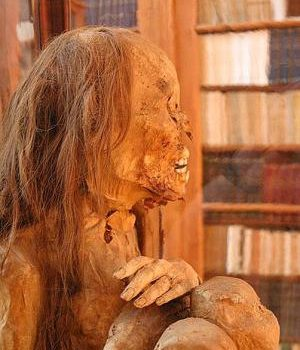 Pre-Columbian Peruvian mummy. (Emmanuelm, Creative Commons)