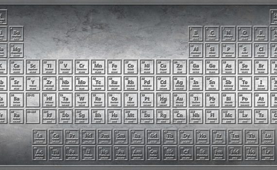 Stamped Periodic Table in Steel