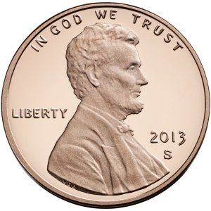 Make a hollow penny by dissolving away the zinc to leave copper metal. (United States Mint)