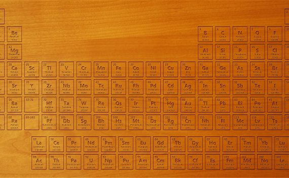 Wooden Periodic Table Wallpaper