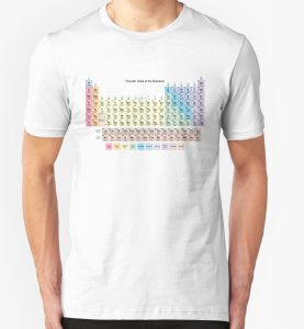 T-Shirt with 118 Element Periodic Table