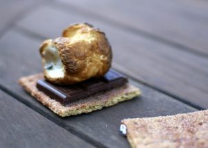 The toasted part of a marshmallow has been carmelized. (John Lustig)