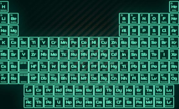 Tritium Neon Glowing Tube Periodic Table Wallpaper