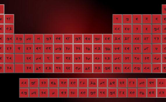 Klingon Periodic Table Wallpaper
