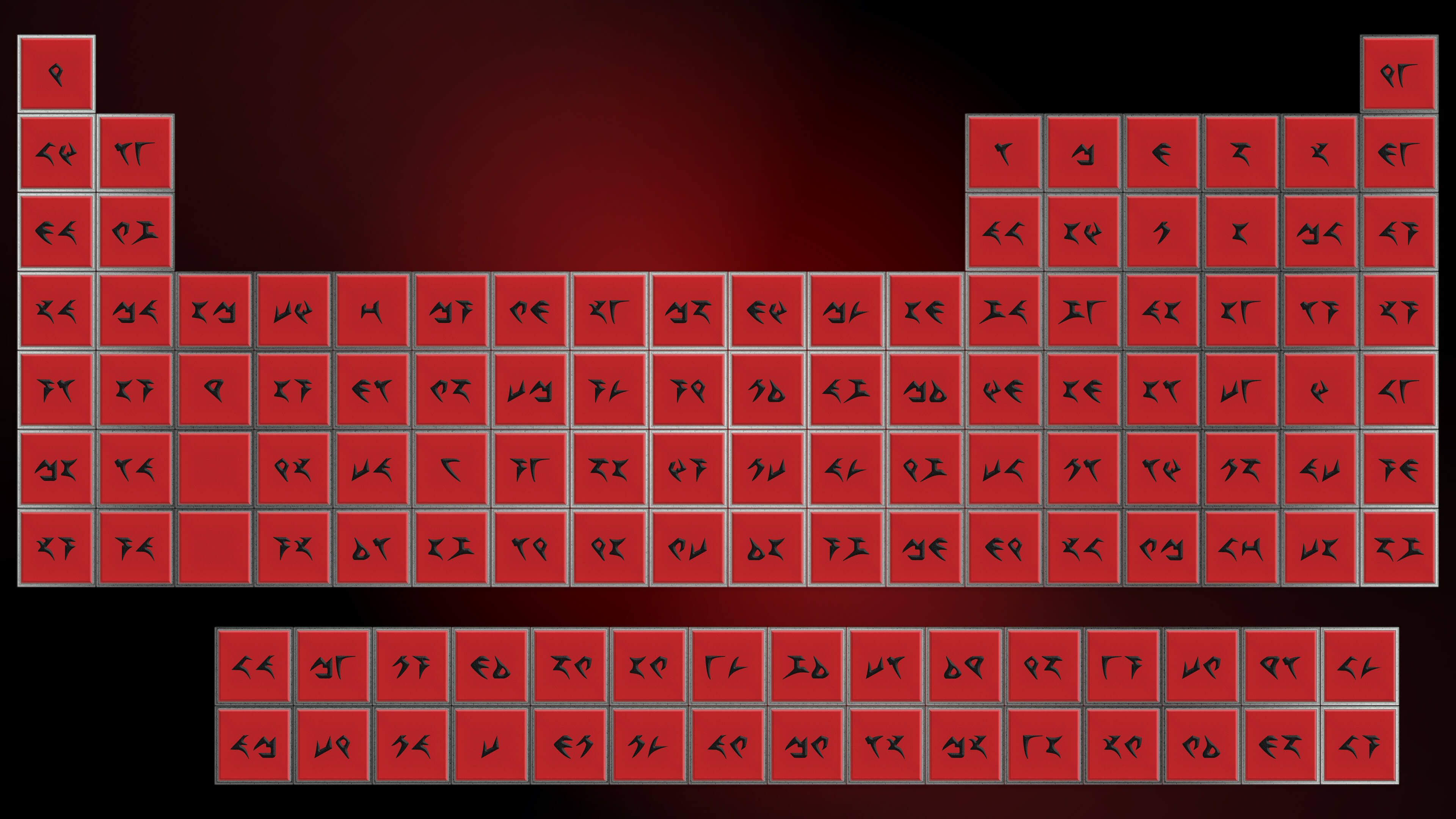 Periodic tables in different languages klingon periodic table jpg red on urtaz Images
