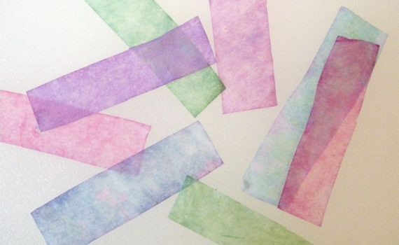 These pH paper test strips were made using paper coffee filters that had been cut up into strips and dipped in red cabbage juice. The strips can be used to test the pH of common household chemicals.