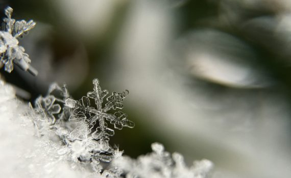 Although two snowflakes may look identical under a microscope, the chance that two snowflakes are the same on the molecular level is infinitesimally small. (Aaron Burden)