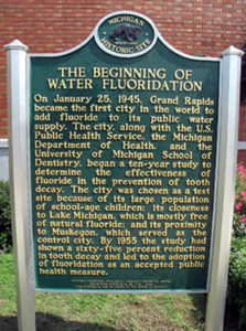 Grand Rapids Fluoridation Historic Marker