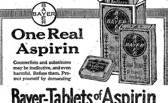 1917 Bayer Aspirin ad