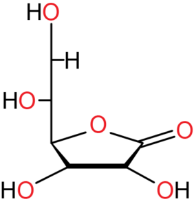 Haworth projection of vitamin C.