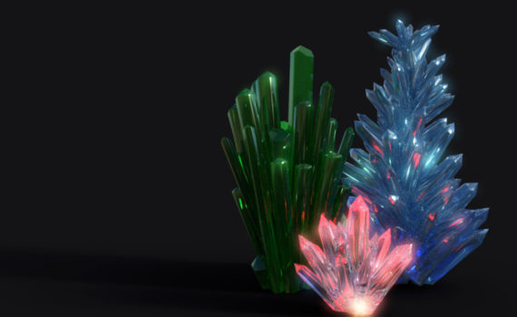 Glow in the dark crystals are brightest if the crystals are clear rather than colored.