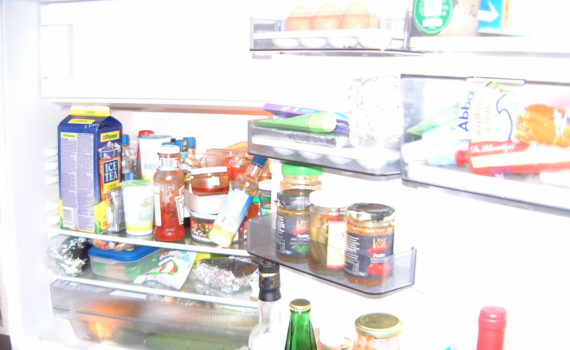 You shouldn't store open cans in the fridge because metals and BPA can leach into food. (maerzbow)