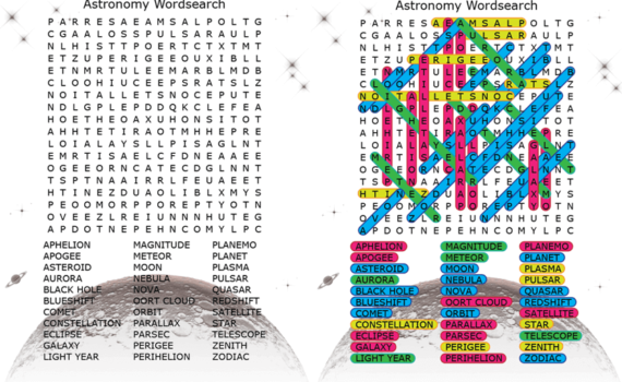 Astronomy Word Search DBL