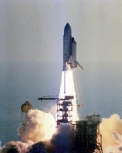 STS-1 Columbia liftoff